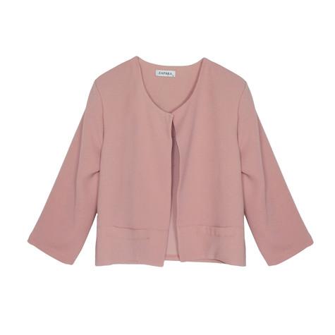 Zapara Old Rose Short Crop Jacket