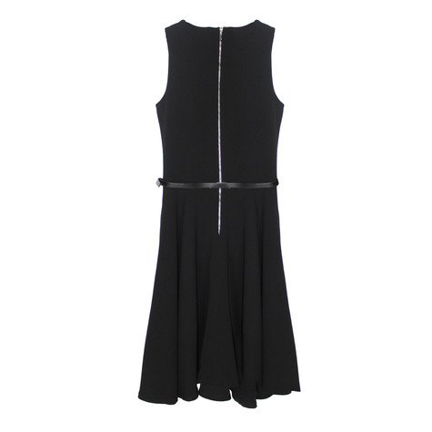Zapara Black Crepe Sleeveless Dress