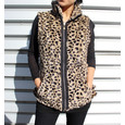 Teezher Leopard Reversible Black Sleeveless Jacket