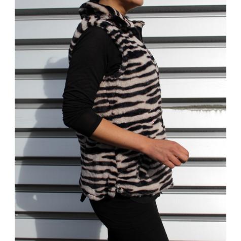 Teezher Zebra Reversible Black Sleeveless Jacket