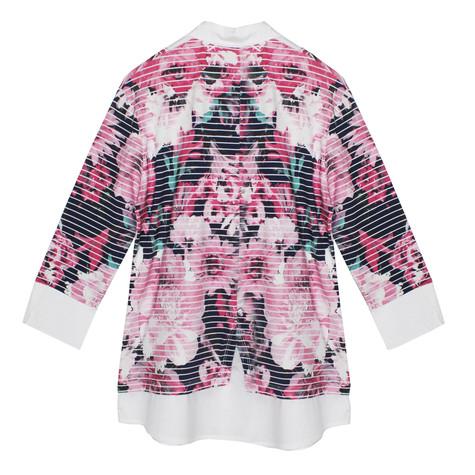 Twist Navy & Pink 2 in 1 Floral V-Neck top