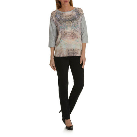 Betty Barclay Beige Decorative Floral Print Top