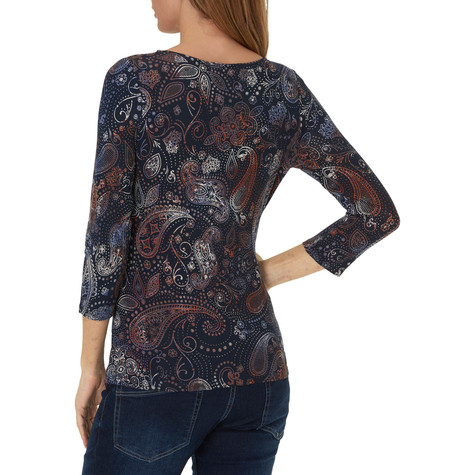 Betty Barclay All Over Pattern Print Paisley Top