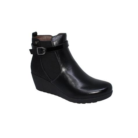 Patrizio Como Black Wedge Boot