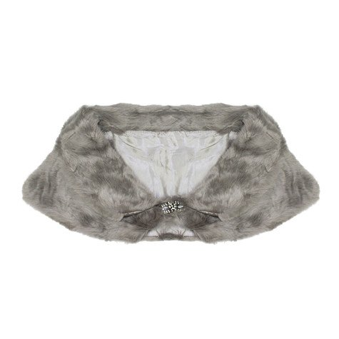 Best Angel Grey Faux Fur Stole