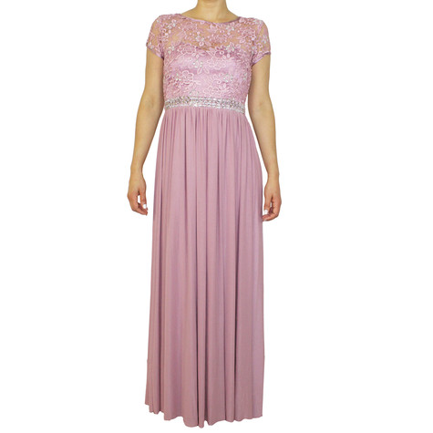 Max And Lola Dusty Pink Long Dress
