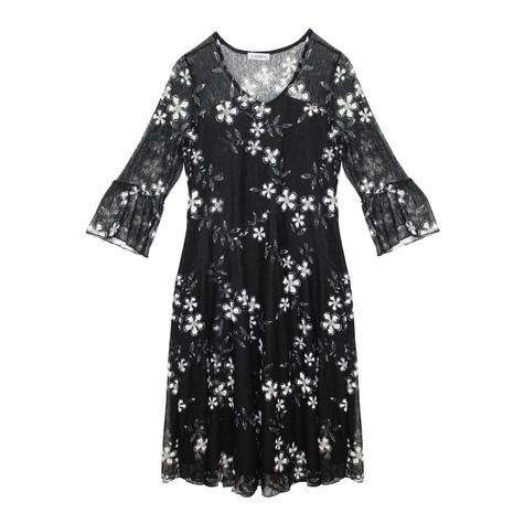 Zapara Black Lace Long Sleeve Dress
