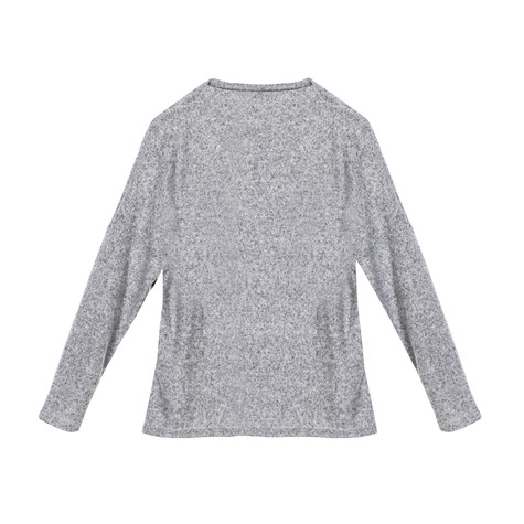 Twist Light Grey Chimney Neck Knit