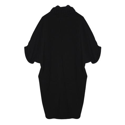 SophieB Black Turtle Neck Short Sleeve Dress