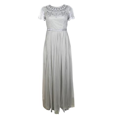 Maya Embellished Bodice Maxi Dress With Tulle Skirt