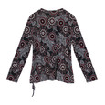 SophieB Red Circle Pattern Print Zip Detail Top