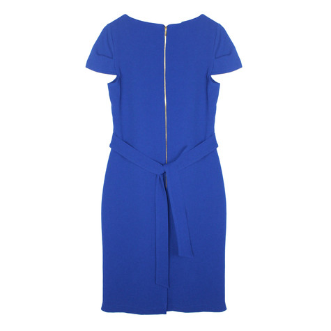 Zapara Royal Blue Crepe Dress