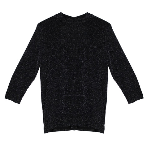 Zapara Black Glitz High Neck Top