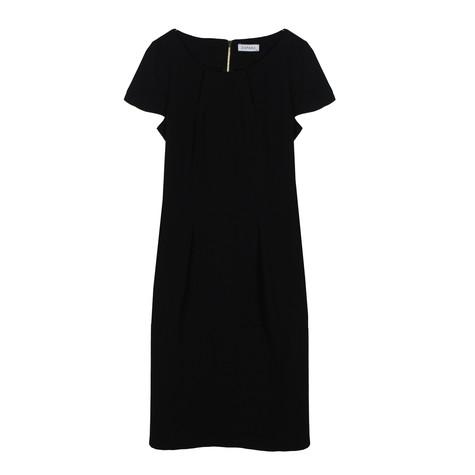 Zapara Black Crepe Dress