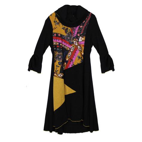 SophieB Multi-colour Cowl Neck Long Sleeve Dress