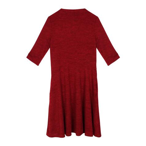 Twist Red SWING 3/4 SLEEVE DRESS