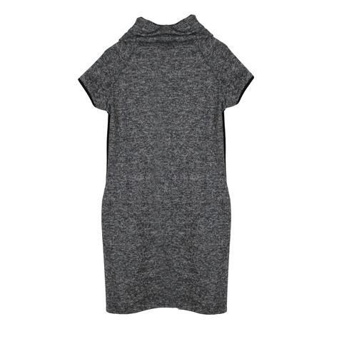 Twist Grey Cowl Neck Dress