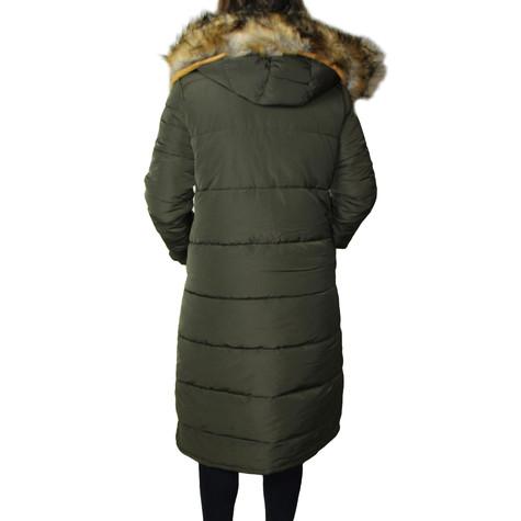 Kelya Green Fuax Fur Hooded Winter Coat