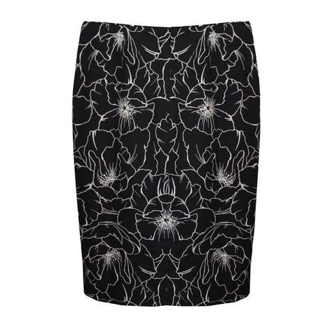 NYCC Black White Floral Print Skirt