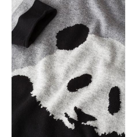Olsen PULLOVER PANDA BEAR MOTIFE - GRAPHITE MELANGE - NOW €60