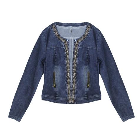 Stella Morgan Denim Chain Detail Open Jacket