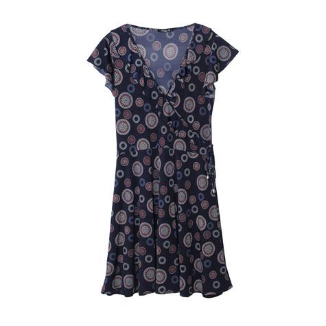 SophieB Navy Circular Pattern Print Dress