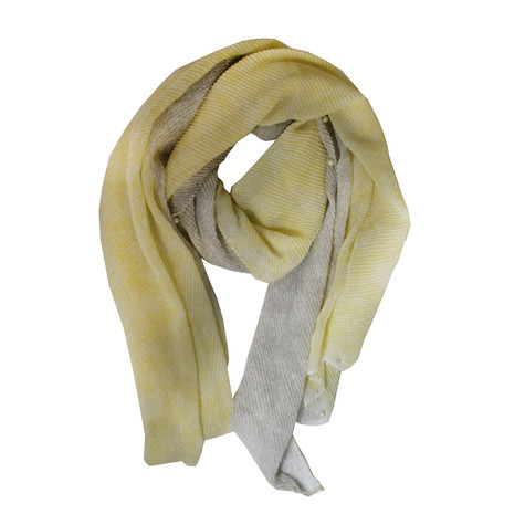 Best Angel Yellow 2 Tone Pearl Detail Scarf