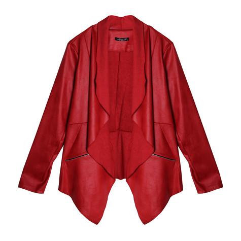 SophieB Red Open Crop Jacket