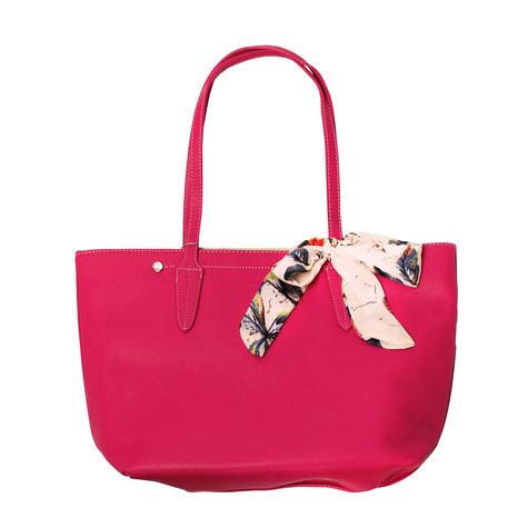 Dave Jones Rose Red Scarf Accessory Detail Handbag