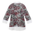 Twist Khaki Floral Pattern 2 in 1 Knit
