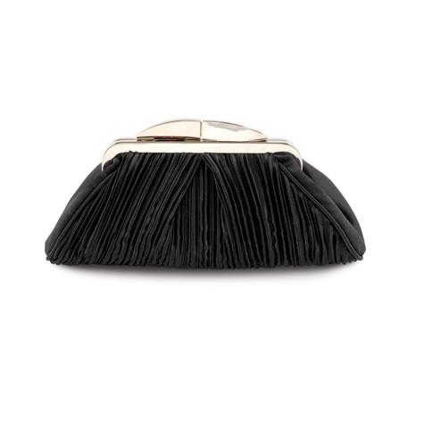 Lunar Black Rippled Clutch Bag
